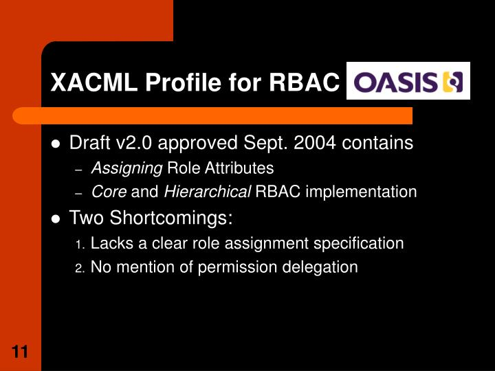 XACML Profile for RBAC