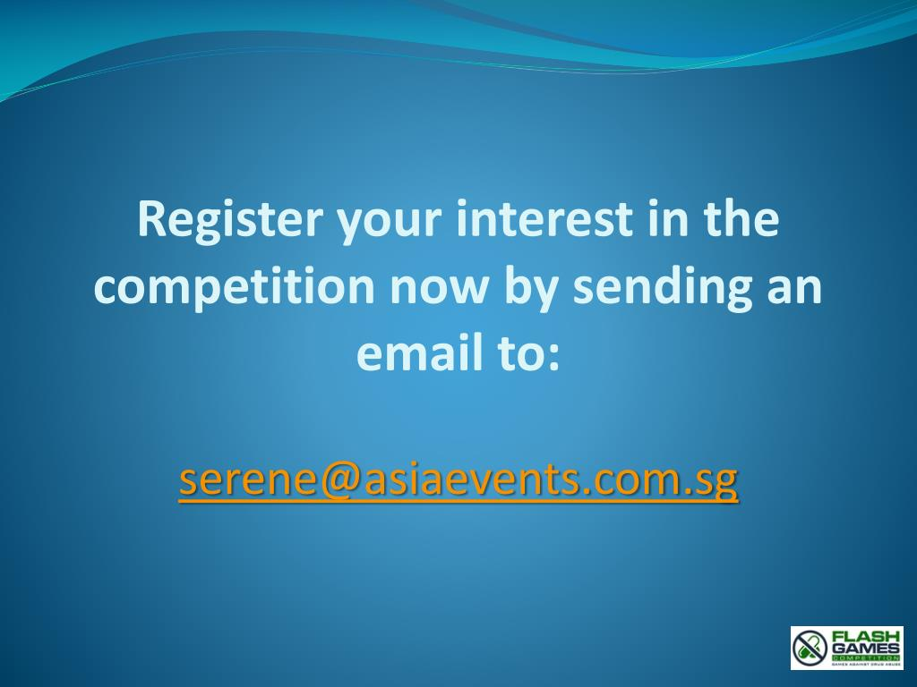 Register your interest in the competition now by sending an email to: