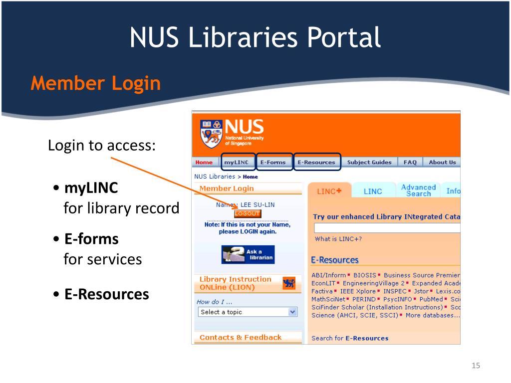 NUS Libraries Portal