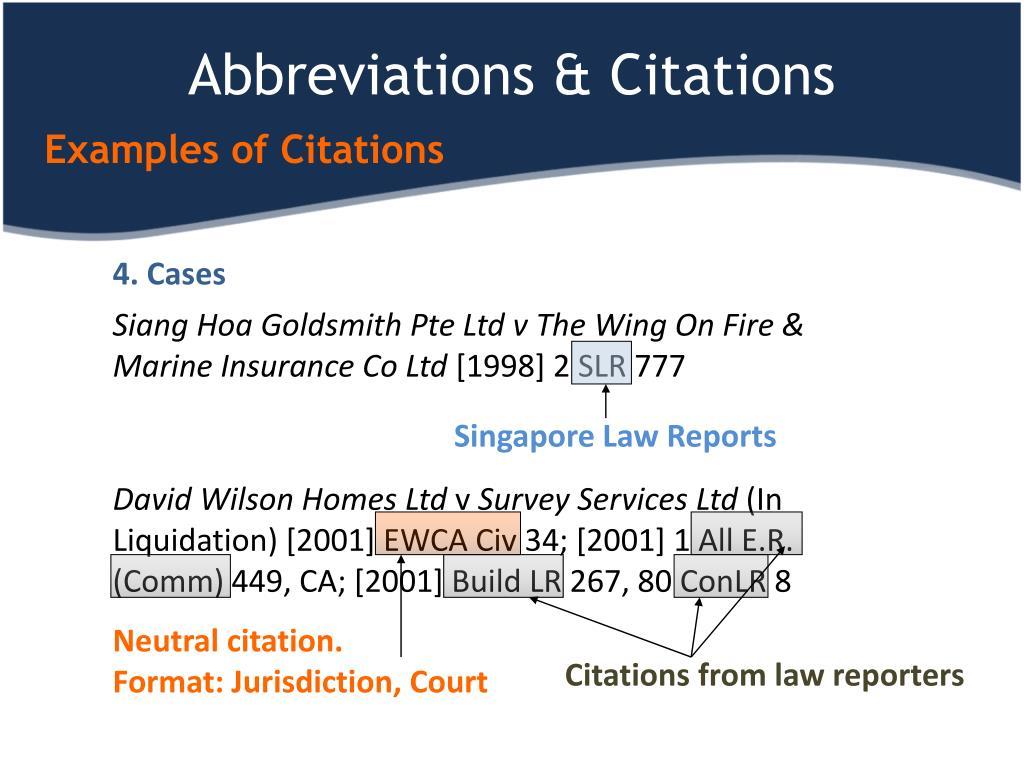 Abbreviations & Citations