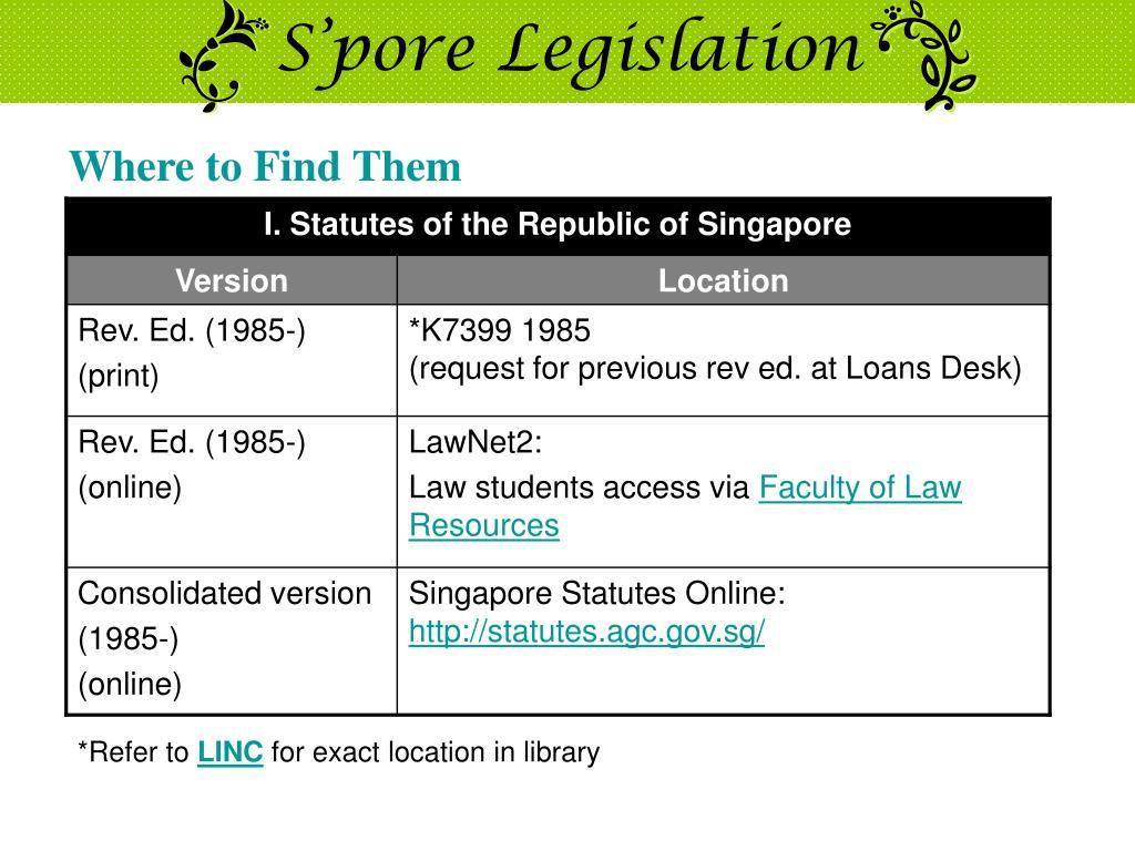 S'pore Legislation