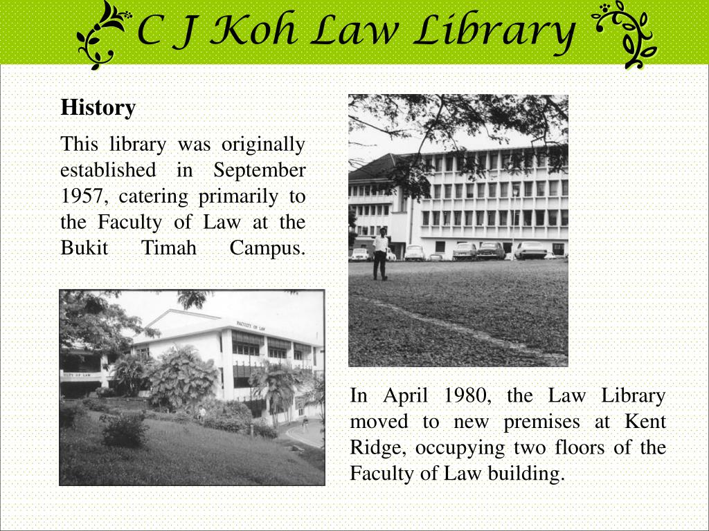 C J Koh Law Library