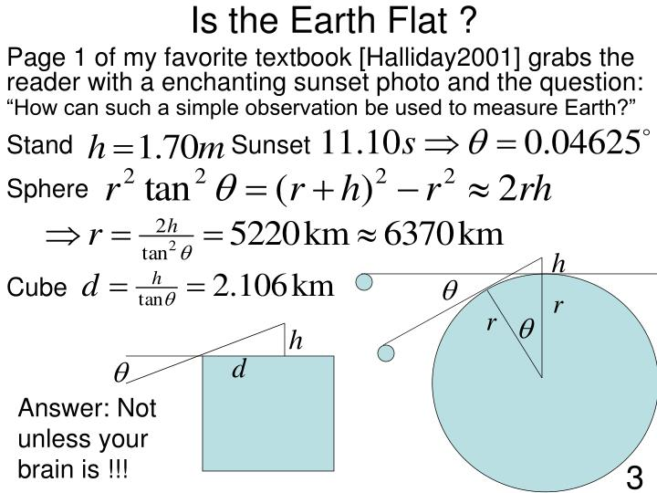 Is the earth flat