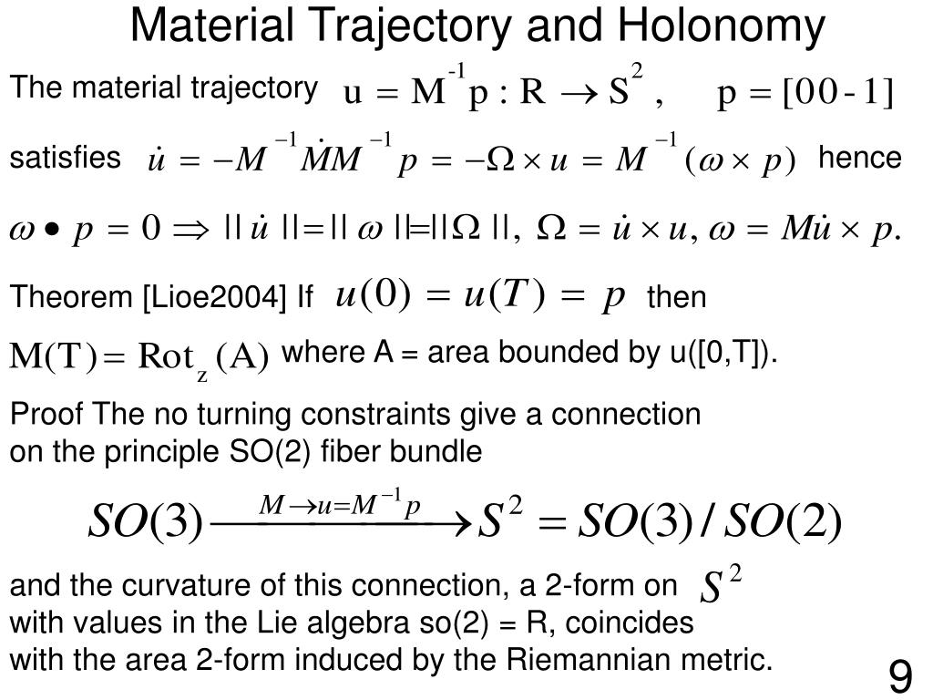 The material trajectory