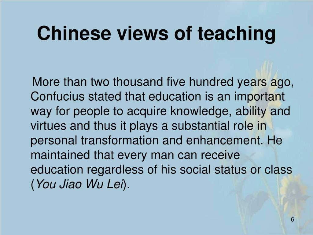 Chinese views of teaching