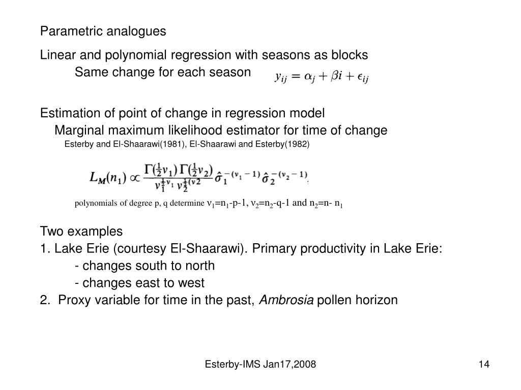 Parametric analogues