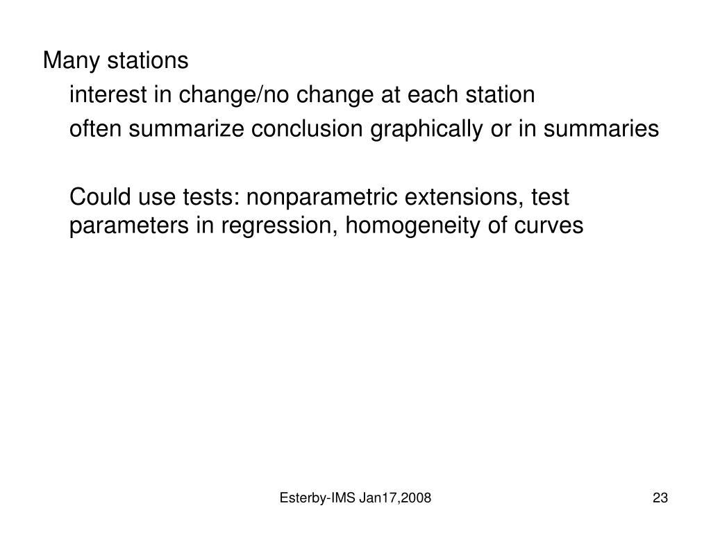 Many stations