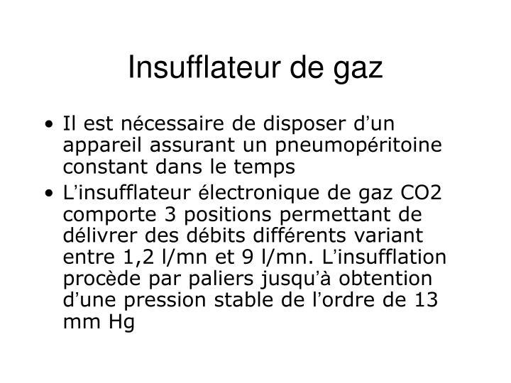Insufflateur de gaz
