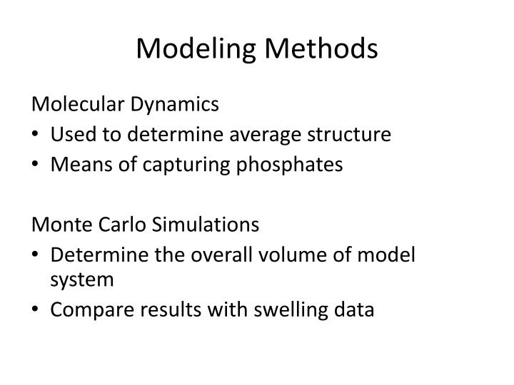 Modeling Methods