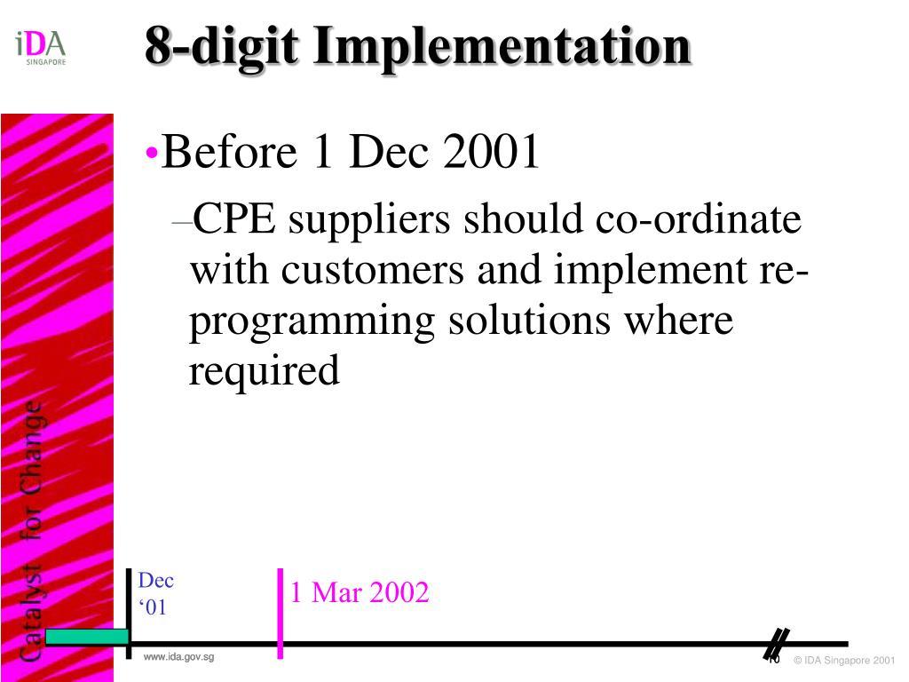 8-digit Implementation