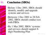conclusion sbos