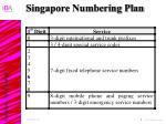 singapore numbering plan