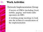 work activities29