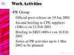 work activities33