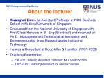 about the lecturer11