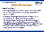 about the lecturer16