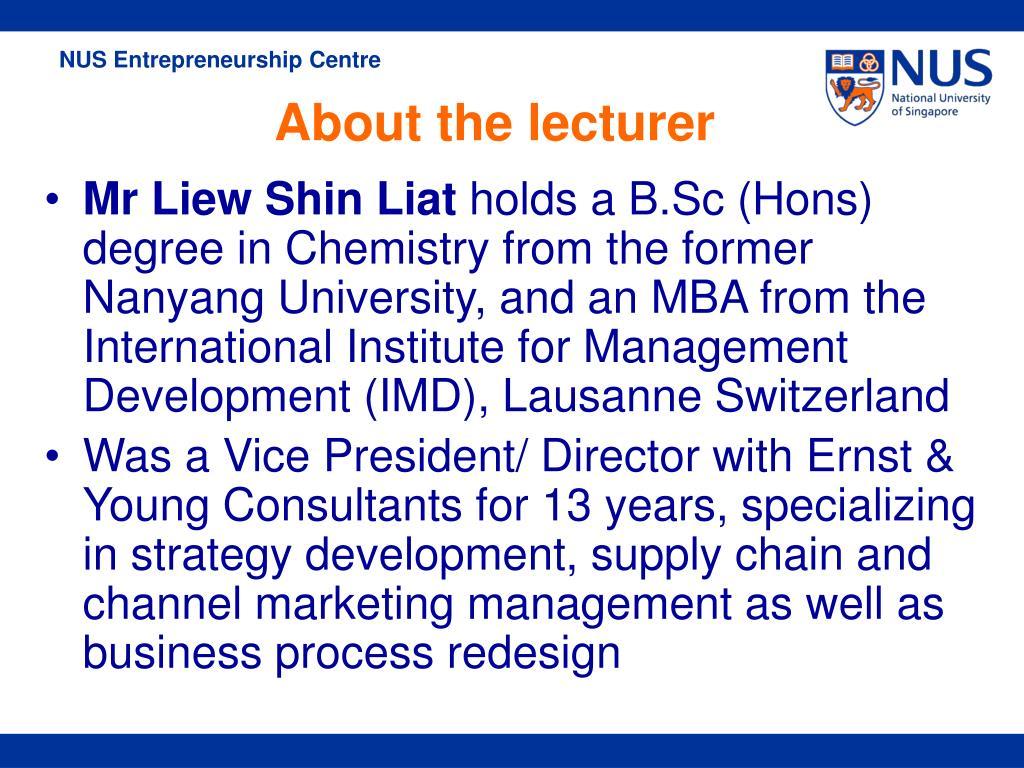 Mr Liew Shin Liat