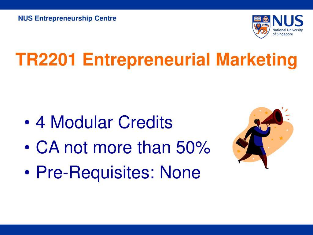 4 Modular Credits