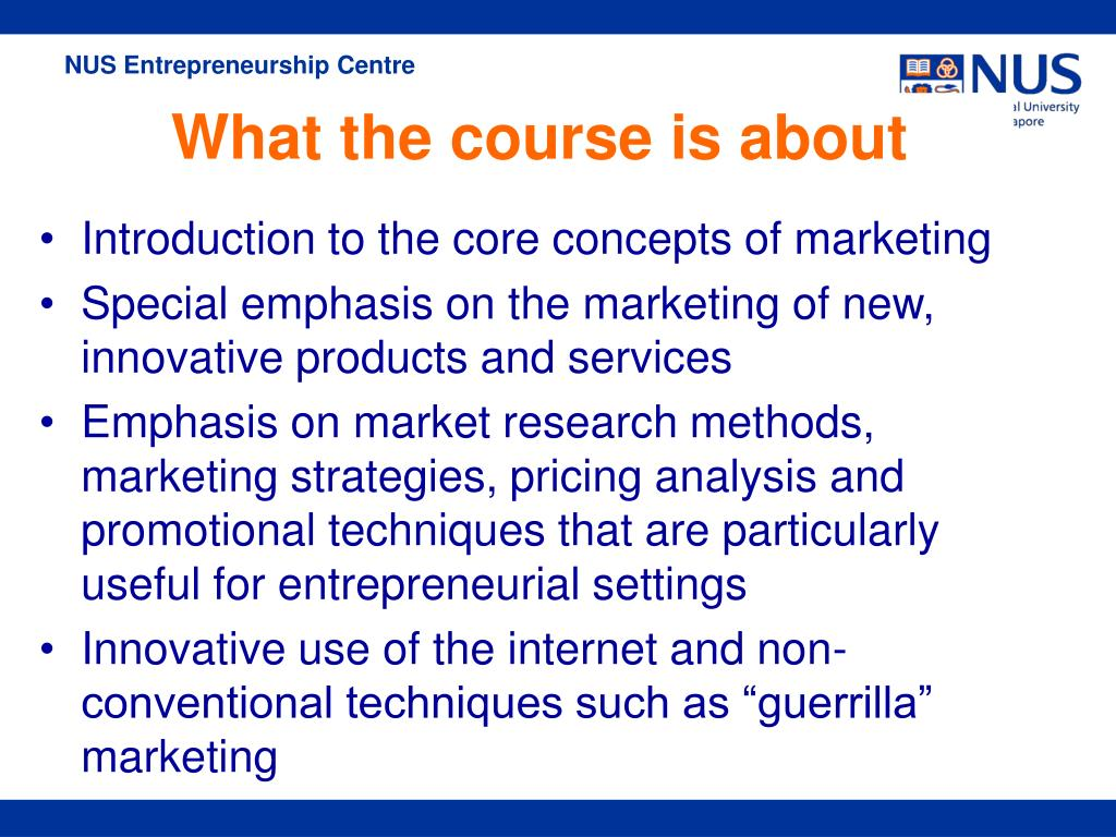 Introduction to the core concepts of marketing
