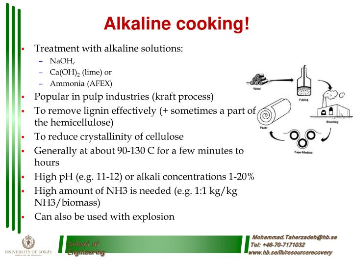 Alkaline cooking!