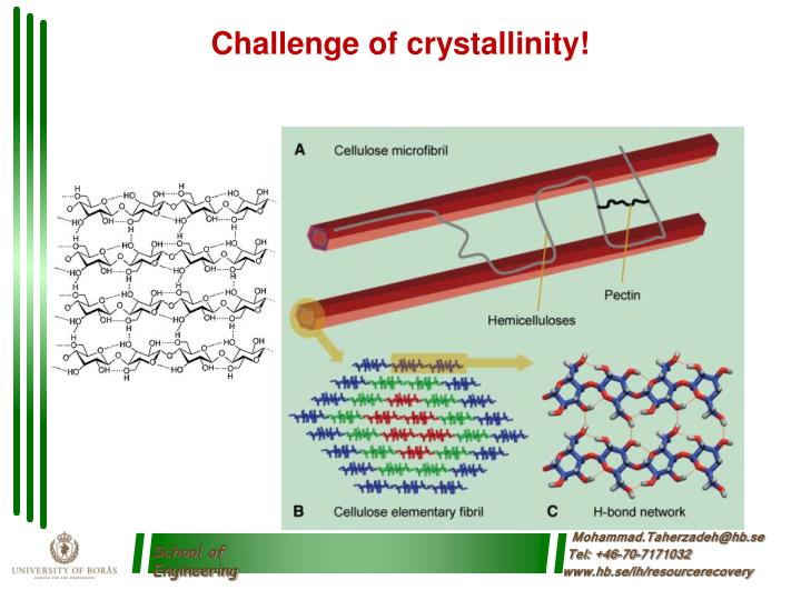 Challenge of crystallinity!