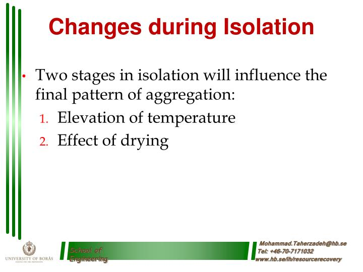 Changes during Isolation