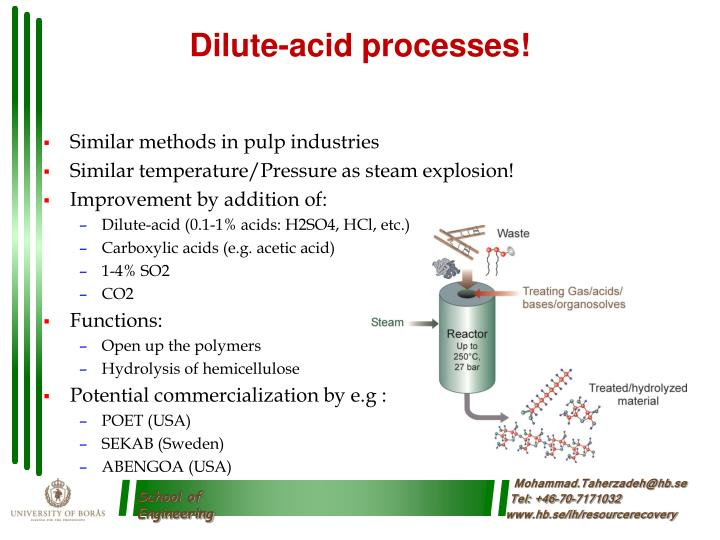 Dilute-acid processes!
