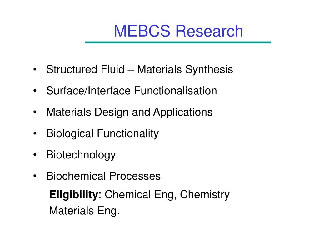 MEBCS Research