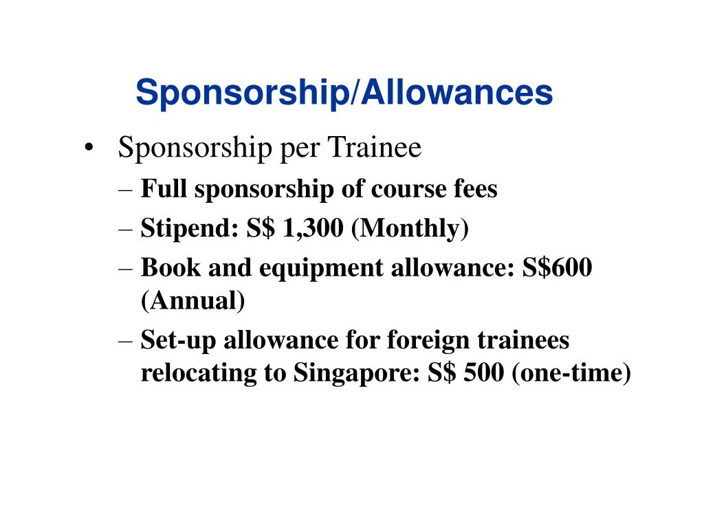 Sponsorship/Allowances