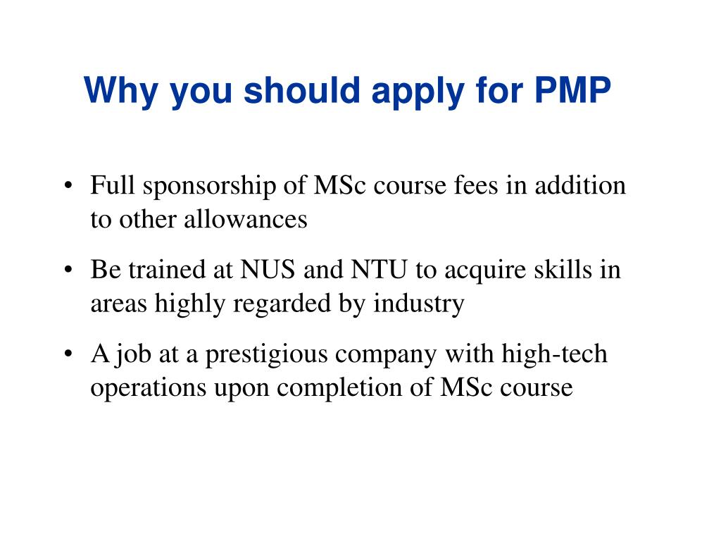 Why you should apply for PMP