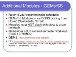 additional modules gems ss