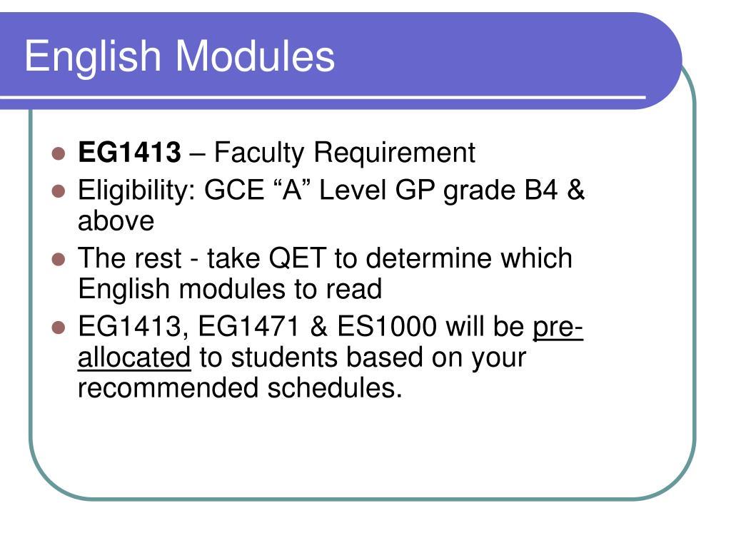 English Modules