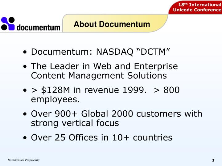 About Documentum