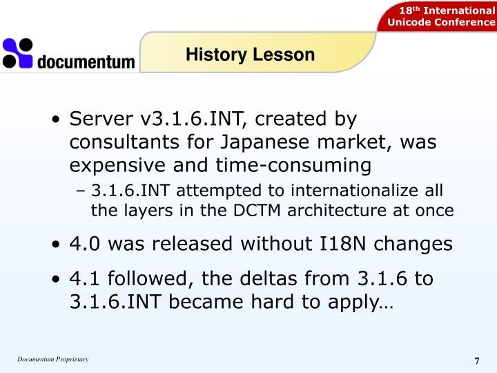 History Lesson