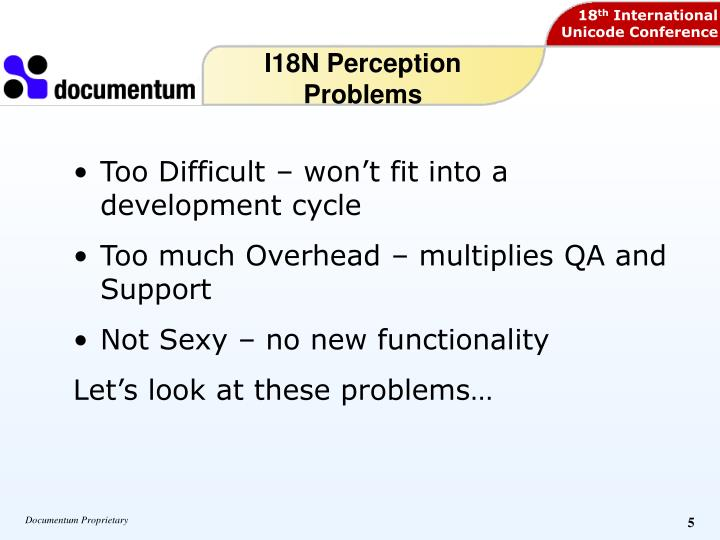 I18N Perception Problems