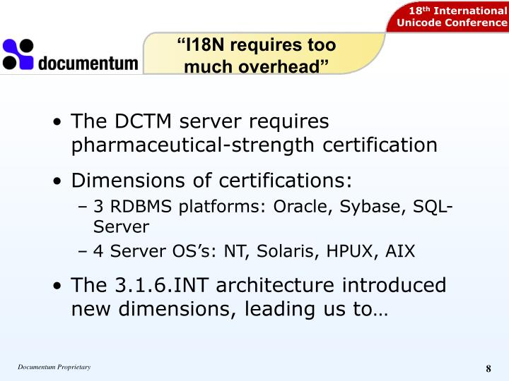 """""""I18N requires too much overhead"""""""