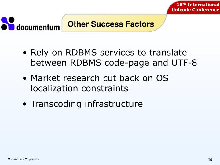 Other Success Factors