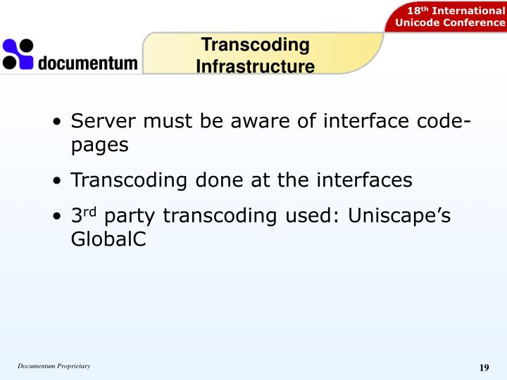 Transcoding Infrastructure