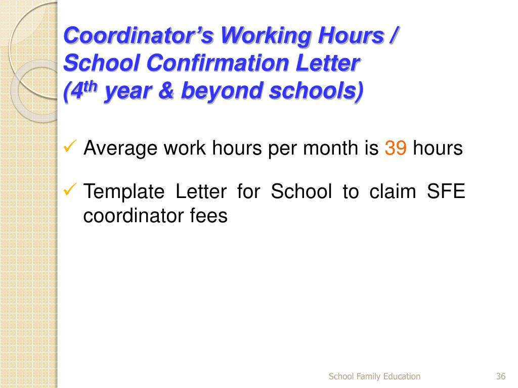 Coordinator's Working Hours /
