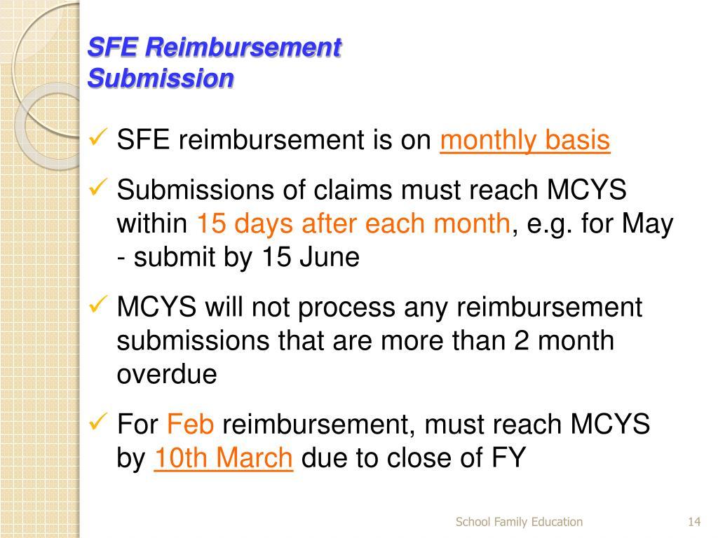 SFE Reimbursement