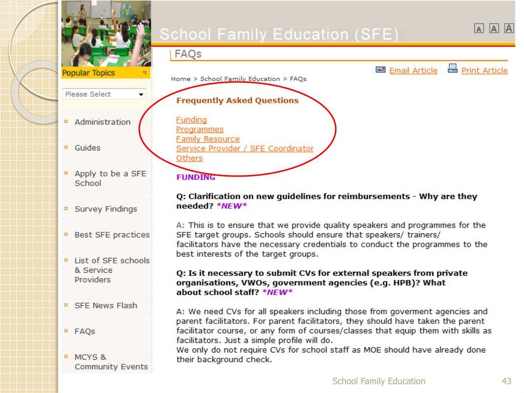 School Family Education