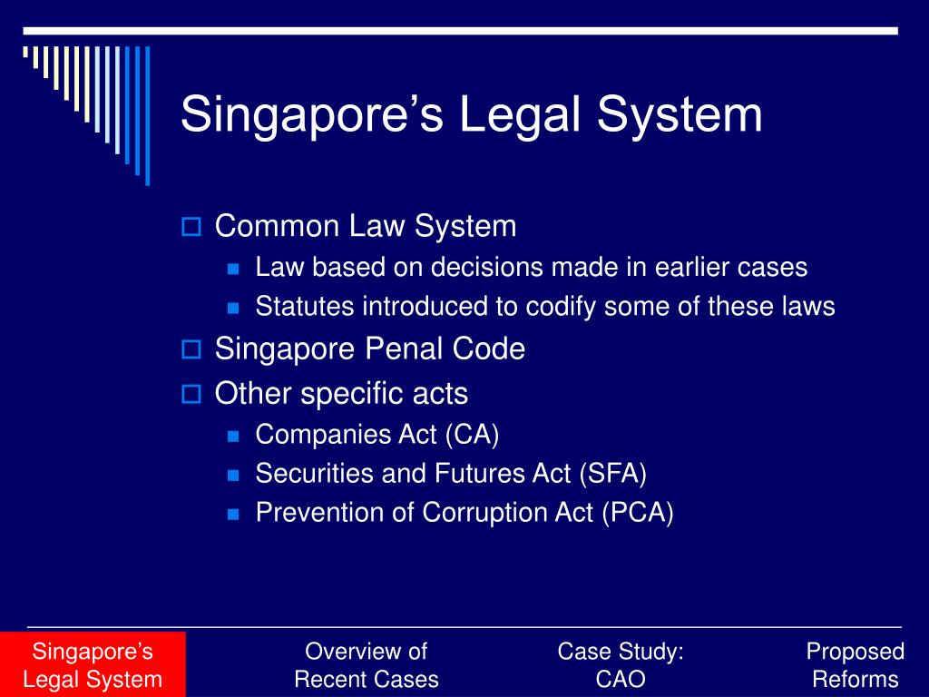 Singapore's Legal System
