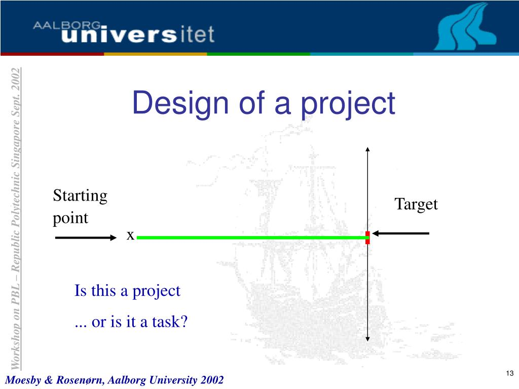 Design of a project