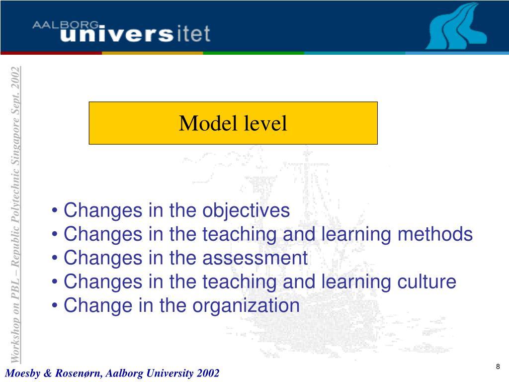 Model level