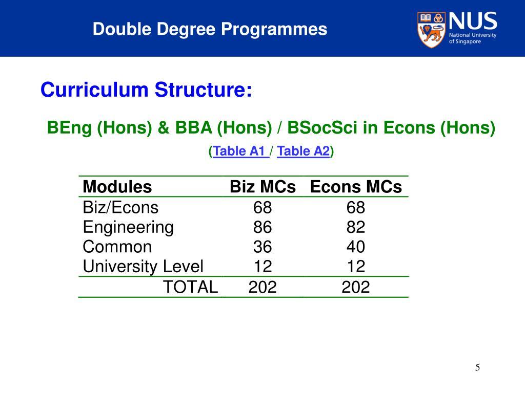 Double Degree Programmes