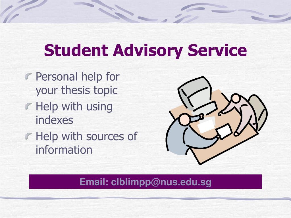 Student Advisory Service