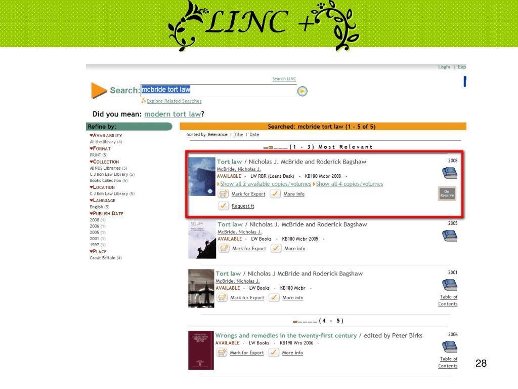 LINC +