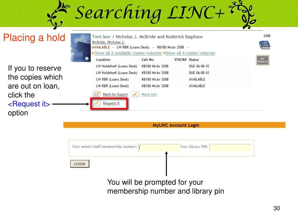 Searching LINC+