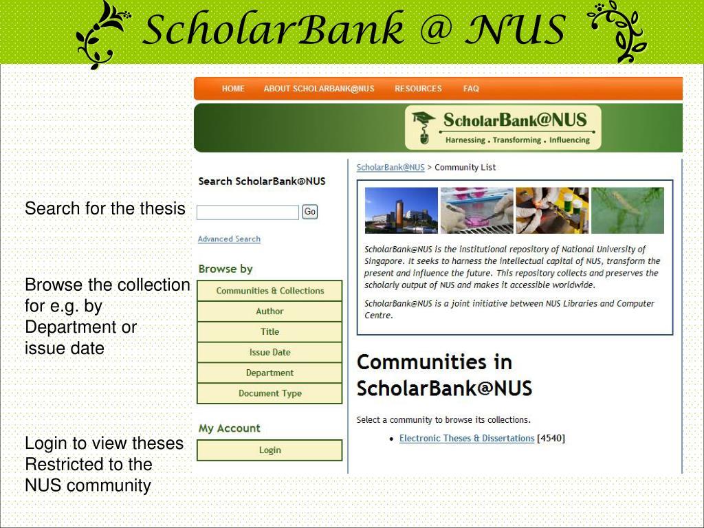 ScholarBank @ NUS
