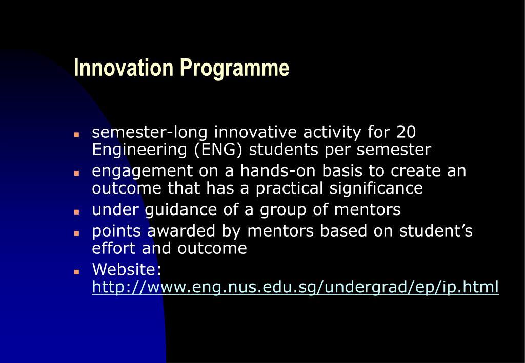 Innovation Programme